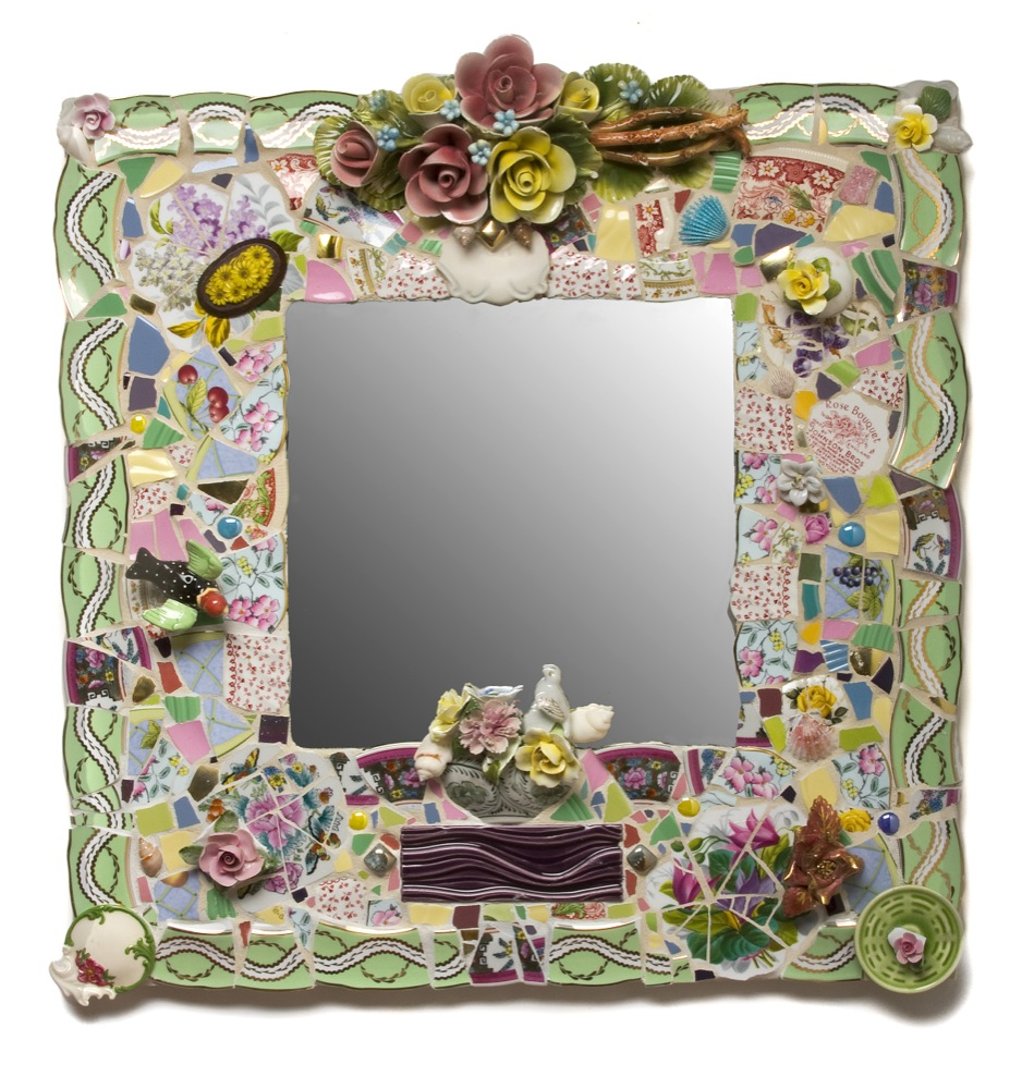 "Bouquet Mirror   24"" x 24"""